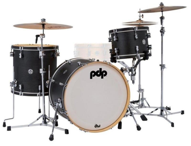 PDP by DW Shell set Concept Classic  Wood Hoop Ebony/Ebony Hoop