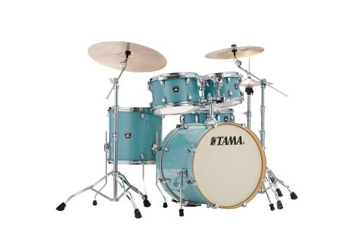 Trumset Superstar Classic CL50RS-LEG, lackerade lönnstommar i Light Emerald Blue Green finish