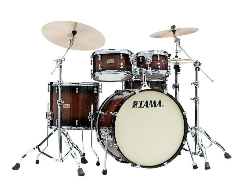 Tama S.L.P. Drumkit Dynamic Kapur, Gloss Black Kapur Burst finish