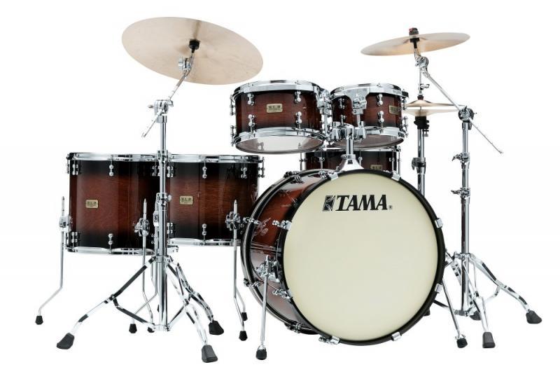 Tama S.L.P. Drumkit Dynamic Kapur - LKP52HTS-GKP, lackerat i Gloss Black Kapur Burst finish.
