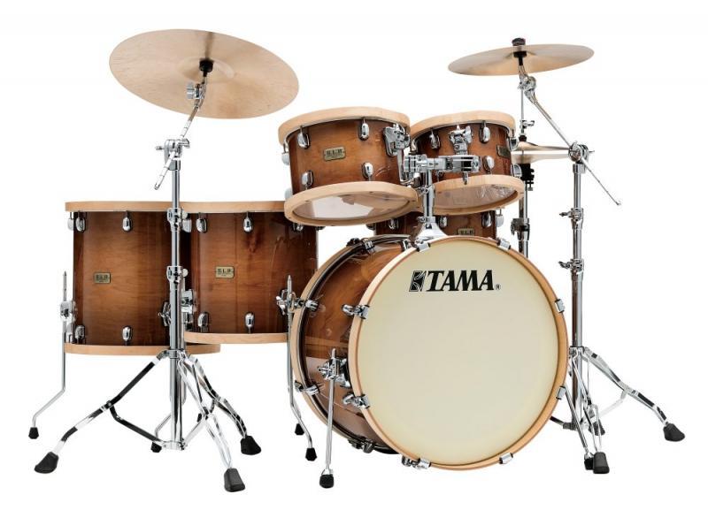 Tama S.L.P. Drumkit Studio Maple, Gloss Sienna finish.