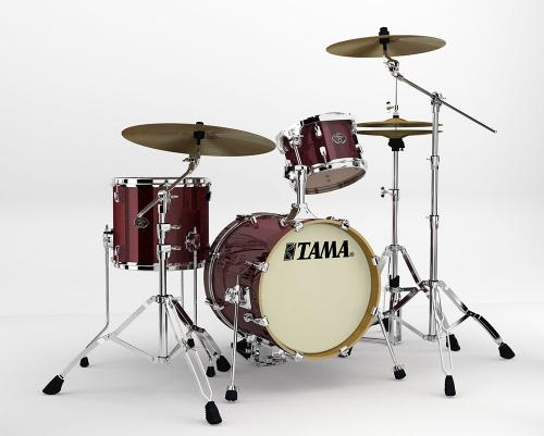 "Tama Silverstar ""Metro-Jam"" Kit, Dark Red Sparkle finish."