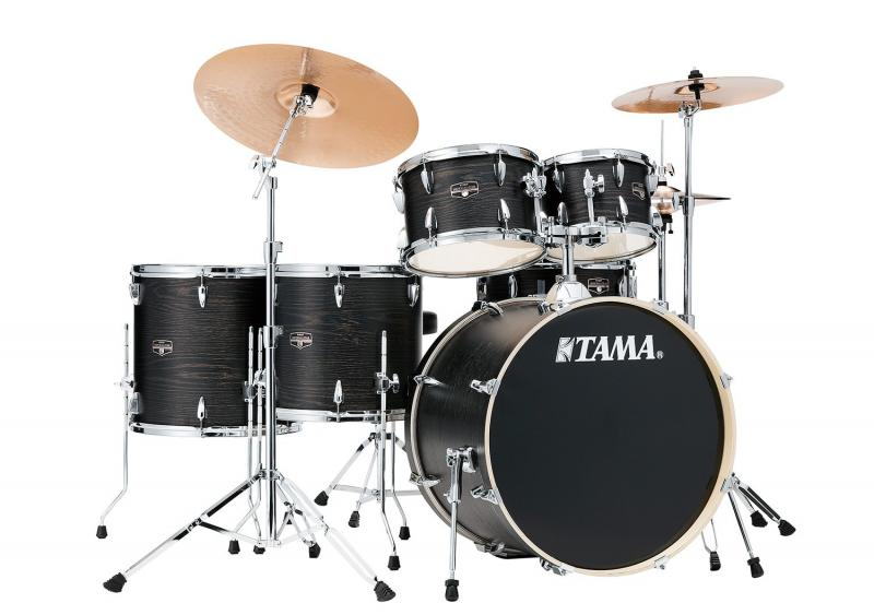 TAMA Imperialstar, klädda i Black Oak Wrap finish,  IE62H6W-BOW