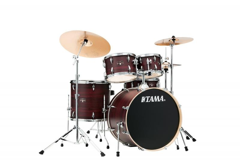 TAMA IMPERIALSTAR IE52KH6W-BWW, klädda i Burgundy Walnut Wrap finish
