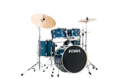 TAMA IMPERIALSTAR IE50H6W-HLB, klädda i Hairline Blue finish