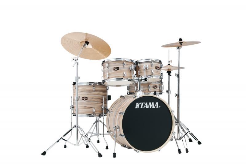 Tama Tama Imperial 5-del m/cymb. Natural Zebrawood Wrap