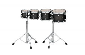 Tama Consert Toms High-Pitch Setup - CCLT4H-TPB, lackerade i Transparent Black Burst