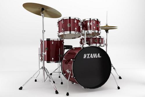 Tama Kompl.trumset Rhythm Mate - RM50YH5C-RDS, klädda i Red Stream finish