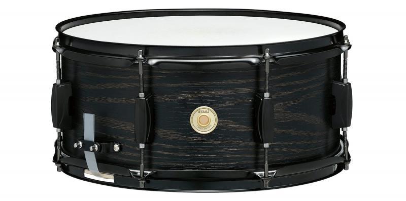 "Tama Woodworks Poplar Snare - WP1465BK-BOW (Black Oak Wrap). 14""x 6,5"""