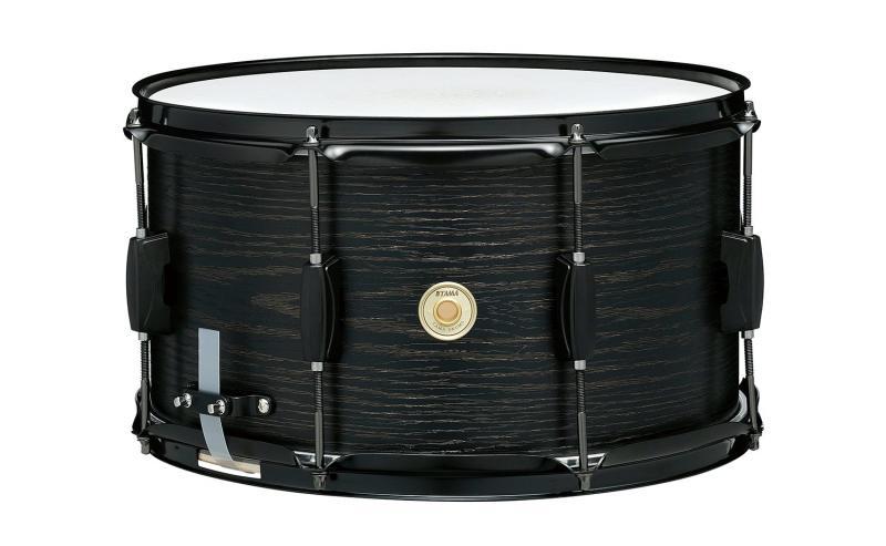 "Tama Woodworks Poplar Snare - WP148BK-BOW (Black Oak Wrap). 14""x 8"""