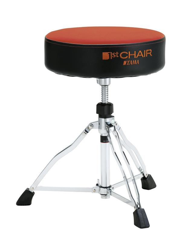 Tama 1st Chair Round Rider - HT430ORC. Orange Cloth top
