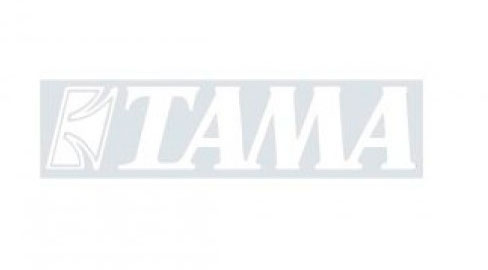 TAMA Logo Sticker - TLS70WH