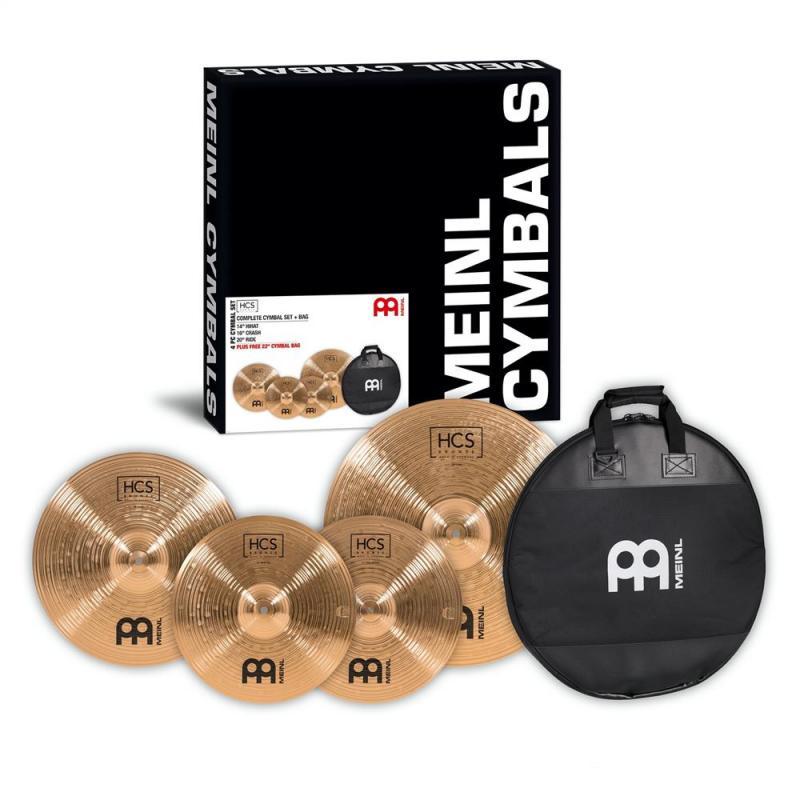 Meinl HSC Bronze Cymbal set, 14H/16C/20R + Fri Cymbalbag, HCSB141620
