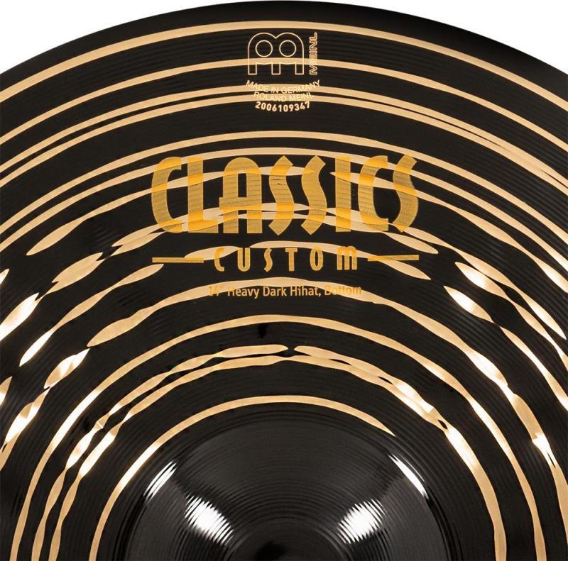 "Meinl Classic Custom Dark 14"" Heavy Hi-hat - CC14HDAH"