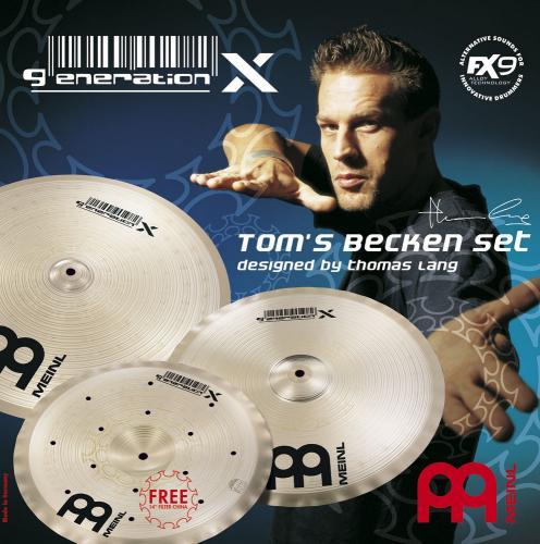 """Toms Becken 14""""/16""""/18"""", Meinl"""