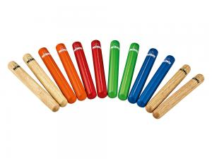 Claves 6-pair pack, Colored