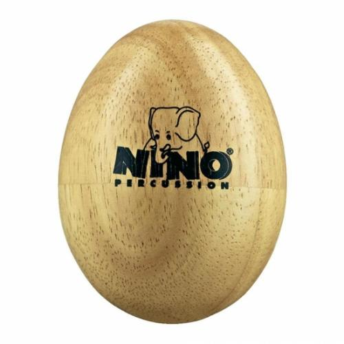 Wood egg shaker