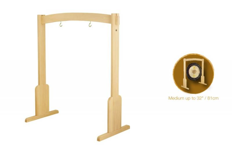 Gong Stand, Medium, Beech Wood, up to 34''/86cm Gong