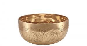 Engraved Singing Bowl, ~ 17-18 cm, 750-850 g