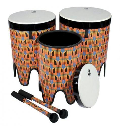 "Nesting Drums Tom Tom  Freestyle II Set of 3 pcs (12""/14""/16""), Toca TF2NT-3PCK"
