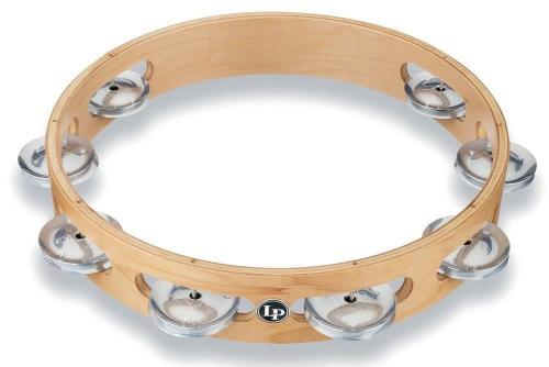 Latin Percussion Tambourine Pro 10 in Single Row Tambourin Aluminium, LP380A-AL