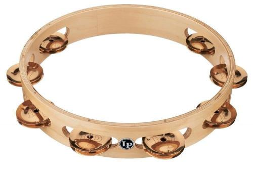 Latin Percussion Tambourine Pro 10 in Single Row Tambourin Bronze, LP380A-BZ