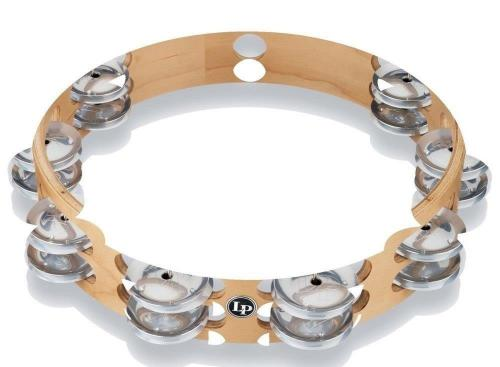 Latin Percussion Tambourine Pro 10 in Double Row LP380B-AL, LP380B-AL