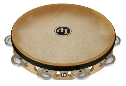 Latin Percussion Tambourine Pro 10 in Single Row with Head 10'' Aluminium with head, LP383-AL