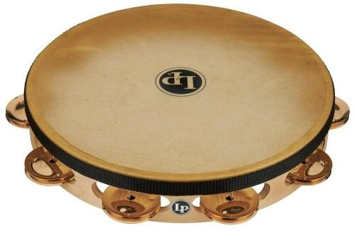 Latin Percussion Tambourine Pro 10 in Single Row with Head 10'' Bronze with head, LP383-BZ