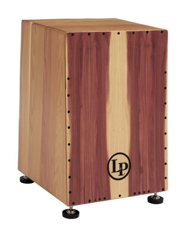 Latin Percussion Cajon Americana Solid Cedar Angled , LP1447
