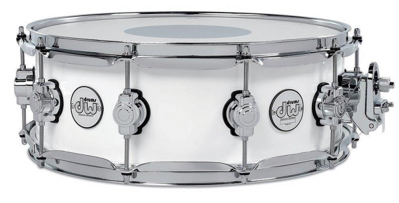 Drum Workshop Snare Drum Design Series White Gloss, DDLG5514SSWH