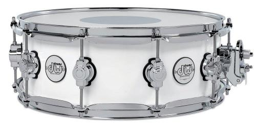Drum Workshop Snare Drum Design Series White Gloss, DDLG5514SSWH