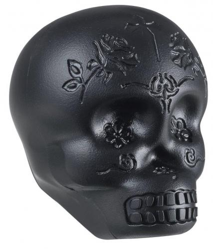 Latin Percussion Shaker Sugar Skull Black, LP006-BK