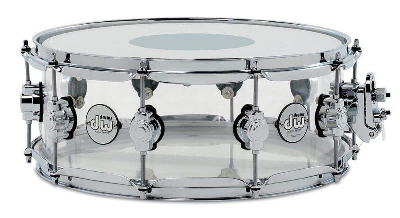 Drum Workshop Snare Drum Design Acrylic Clear