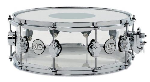 Drum Workshop Snare Drum Design Acrylic Clear