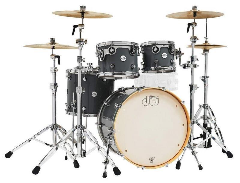 Drum Workshop Shell set Design Steel Gray, DDLG2214SG