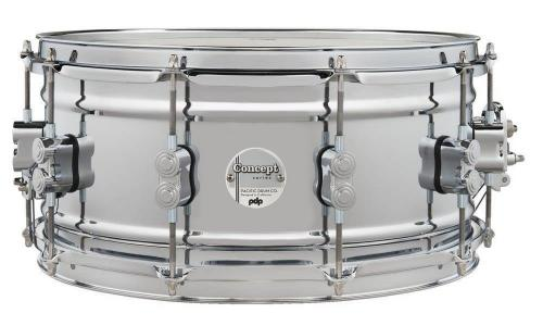 PDP by DW Snare Drum Concept Chrome Over Steel 14x6,5'', PDSN6514SSCSC
