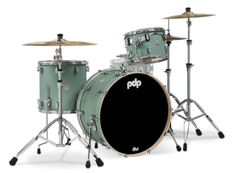 PDP by DW Shell set Concept Maple Finish Ply Satin Seafoam, PDCM24RKSF