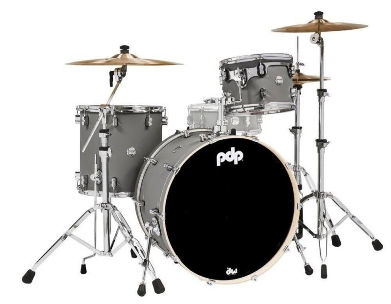 PDP by DW Shell set Concept Maple Finish Ply Satin Pewter, PDCM24RKSP