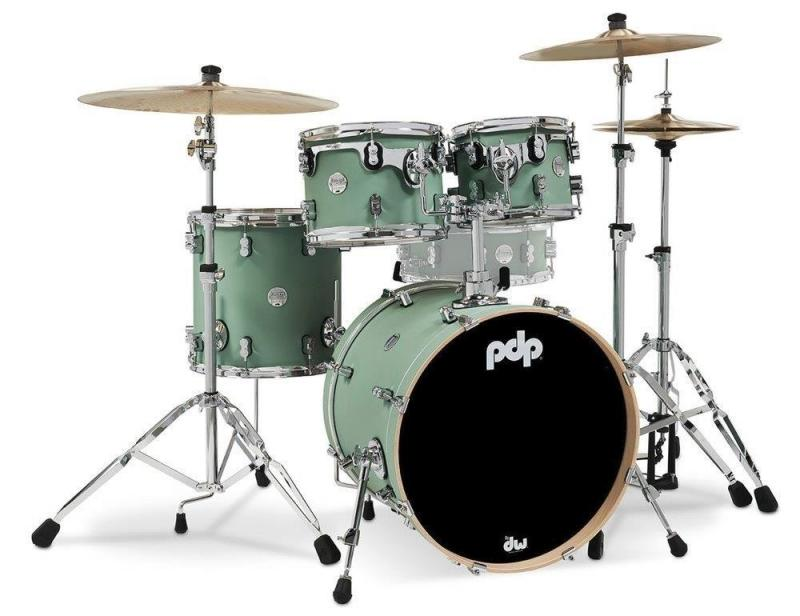 PDP by DW Shell set Concept Maple Finish Ply Satin Seafoam, PDCM20FNSF