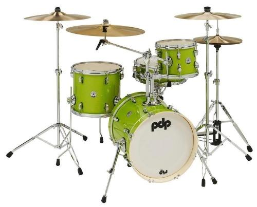 PDP by DW Shell set New Yorker Electric Green Sparkle, PDNY1604EL