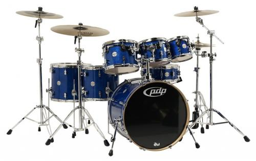 PDP Concept Maple, Blue Sparkle 7-delars set