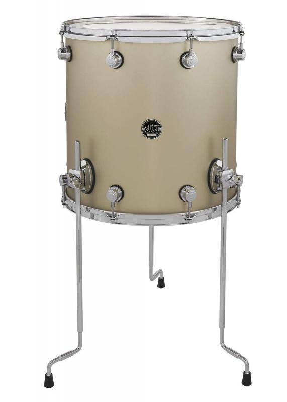 Drum Workshop Floor Tom Performance Lacquer Ebony Stain