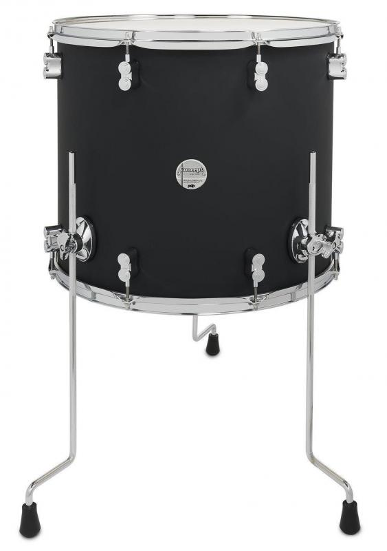 PDP by DW Floor Tom Concept Maple Satin Black