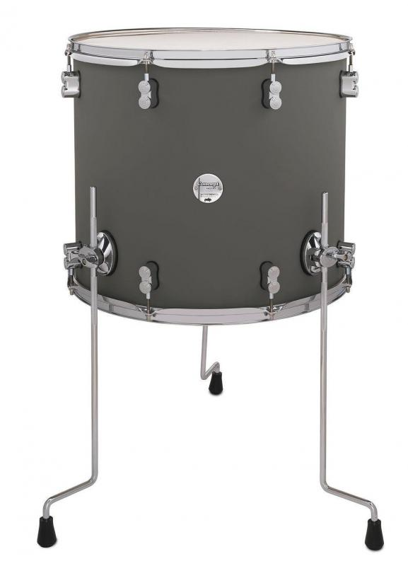 PDP by DW Floor Tom Concept Maple Satin Pewter