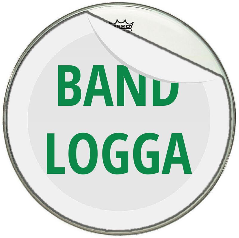 Logotryck, bastrumma - avtagbart