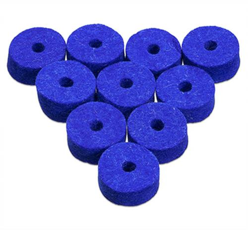 Ahead Blue Natural Wool Cymbal Felts(10 pack)