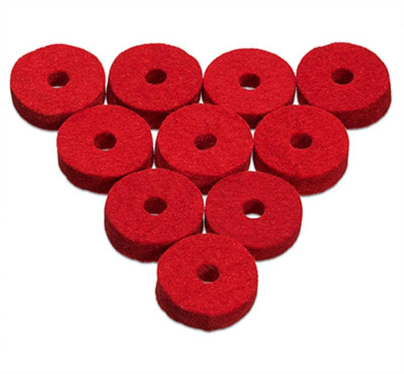 Ahead Red Natural Wool Cymbal Felts(10 pack)