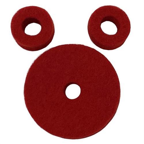 Ahead Red Wool Cymbal Felts Hi-Hat Pack