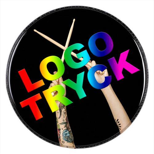 Logotryck, bastrumma